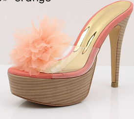 Petal Toe Beauty Heels Peach