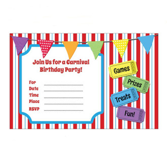 carnival party themed invitations discount invitations unique design - Carnival Birthday Party Invitations