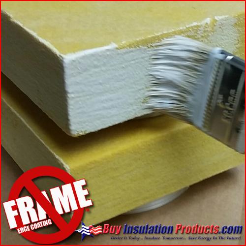 No Frame Fiberglass Edge Coating For Frameless Acoustical
