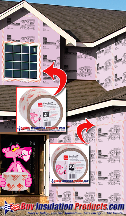 Owens Corning Foamular Tape Offering both JointSealR and FlashSealR
