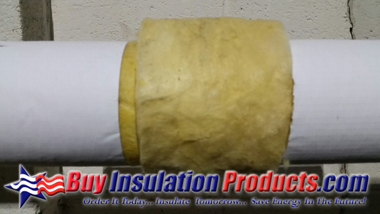Pipe Union Completely Insulated with Fiberglass Wrap