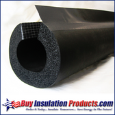 "Rubber Pipe Insulation Split with DoubleSeal (1/2"" Thick)"