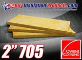"Owens Corning 705 Heavy Density Fiberglass Acoustic Board 2"" thick"