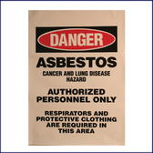 Danger Asbestos Signs (English)