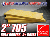 "Owens Corning 705 2"" Thick Fiberglass Panels"