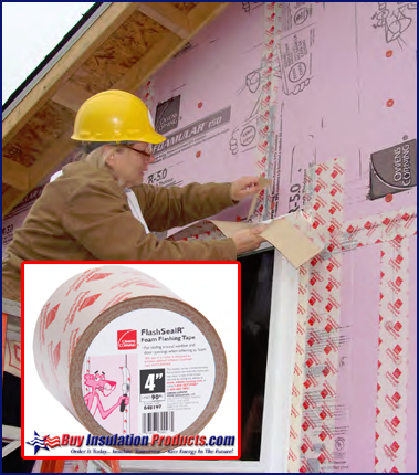Installation of Owens Corning FlashSealR Tape