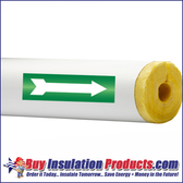 Green/White Arrows for Pipe ID Labels