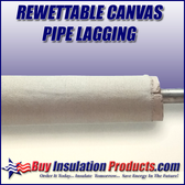 Rewettable Canvas Pipe Lagging