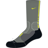 Nike Hyperelite Basketball Crew, Black/Volt-Dark Grey