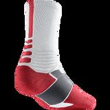 Nike Hyperelite Basketball Crew, White/Varsity Red