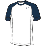 Nike Elite Short Sleeve Shooter - White / Navy