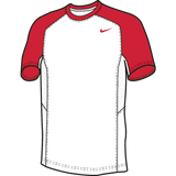 Nike Elite Short Sleeve Shooter - White / Scarlet