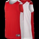 Nike Youth Reversible Tank, Scarlet/White