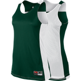 Nike Womens League Reversible Tank - Dark Green / White