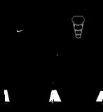 Nike Grappler Elite Wrestling Singlet - Black / White