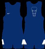 Nike Grappler Elite Wrestling Singlet - Royal / White