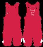 Nike Grappler Elite Wrestling Singlet -  Scarlet / White