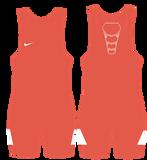 Nike Grappler Elite Wrestling Singlet -  Orange / White