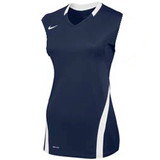 Nike Women's Volleyball Ace Tank - Navy/White