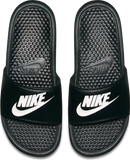 "Nike Men's Benassi ""Just Do It"" Sandal - Black/White"
