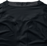 Nike Men's Long Sleeved Pro Top - Black/White