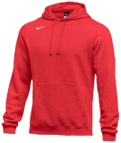 Nike Men's Club Fleece Pullover Hoody - Scarlet/White