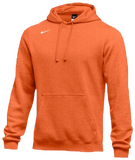 Nike Men's Club Fleece Pullover Hoody - Orange/White