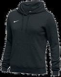 Nike Women's Club Fleece Hoody - Black/White