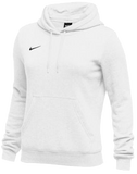 Nike Women's Club Fleece Hoody - White/Black