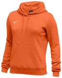 Nike Women's Club Fleece Hoody - Orange/White