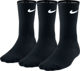 Nike Unisex Performance Lightweight Crew Sock 3 pack - Black/White