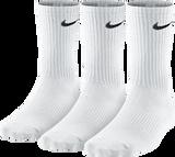 Nike Unisex Performance Lightweight Crew Sock 3 pack - White/Black