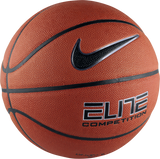 Nike Elite Competition 8-Panel (Size 7) Basketball - Amber/Black/Platinum