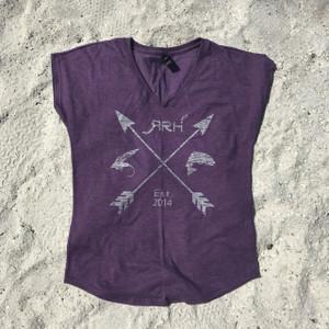 RRH Arrow Tee-Heathered Purple