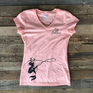 Fly Goddess V-Neck Tee- Coral