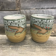 "Set of Handmade ""Fly"" Trout Cups"