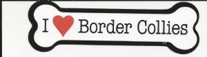I Love Border Collies Bone Magnet
