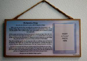 The Rainbow Bridge Memory Plaque