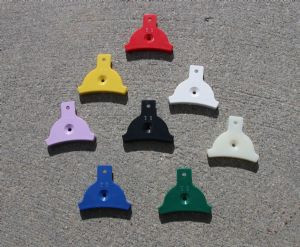 Set of 6 Plastic Mouth Whistles