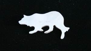 Border Collie Nickel Silver Pin/Brooch