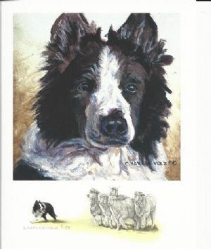 Regal - With Sheep Print by Cheryl Harley-Volzt