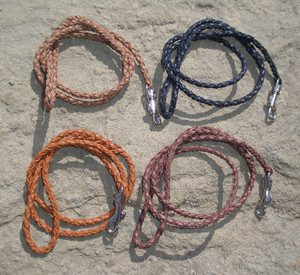 Kangaroo Leather Lead - 3/16-Inch Diameter