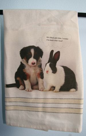 Its Black & White...-Tea Towel