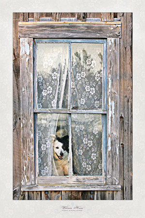 """Welcome Home"" Matted Print by Vickie Atkins Close"