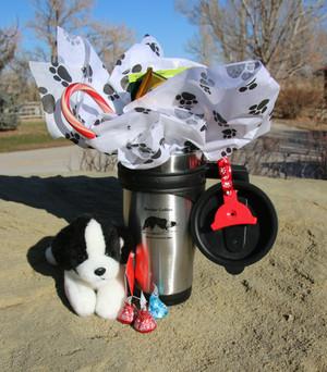 Border Collie Gift Mug Set with Hot Chocoate
