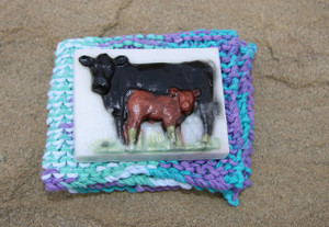 Cow Soap & Wash Cloth