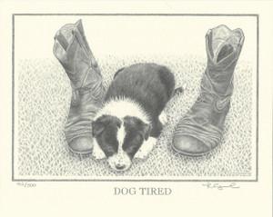 Dog Tired - Print