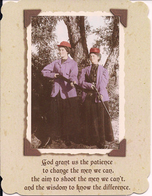 God Grant us Patience - notecard