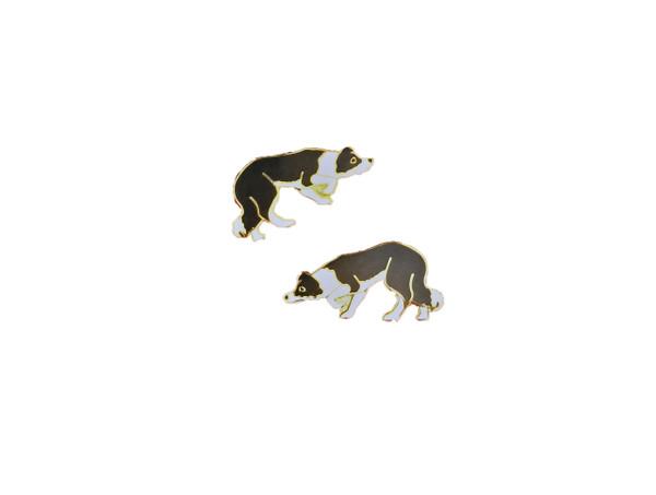 Border Collie Cloisonne Earrings
