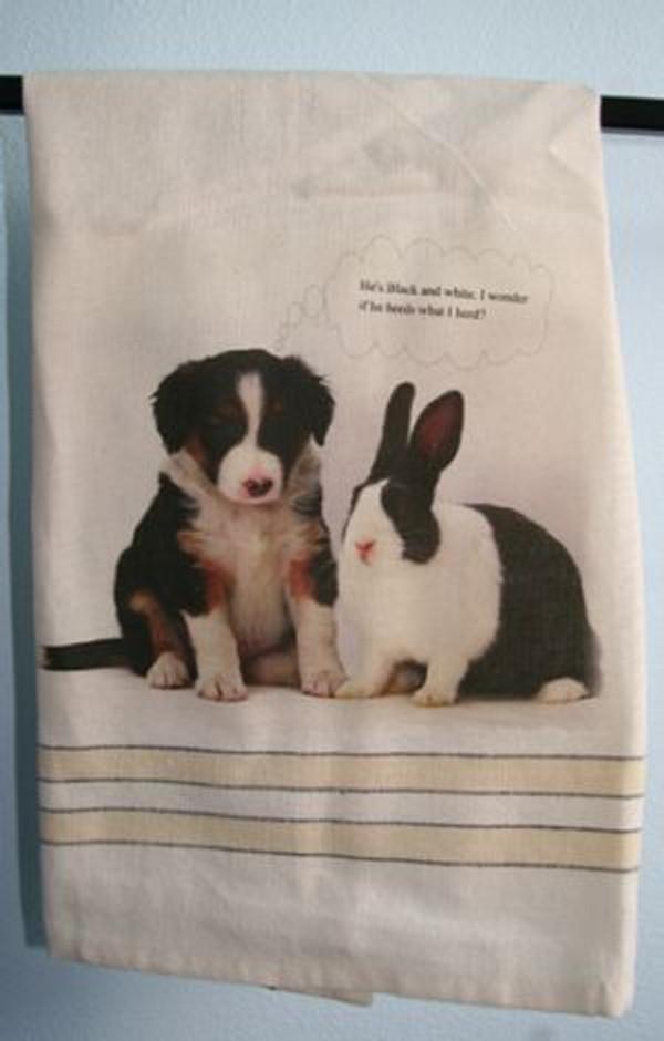 Its Black & White...-Tea Towel